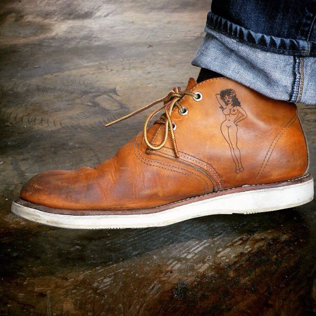 A used pair of Red Wing Chukkas. I think my next boots will be a pair of steel toe Thorogood Chukkas.