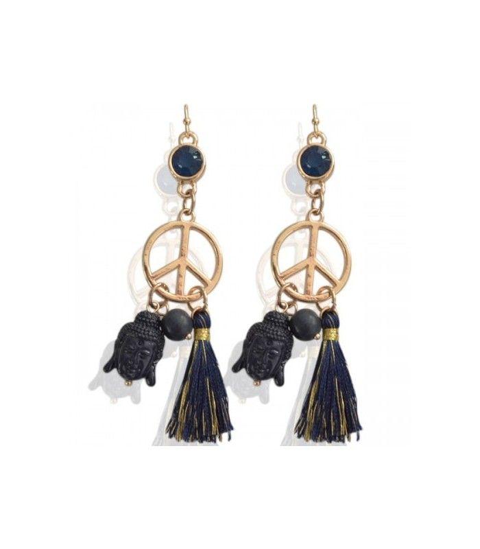 Blauwe oorbellen, euro 3,95 www.deoorbel.nl Mooie #Sinterklaas cadeautjes