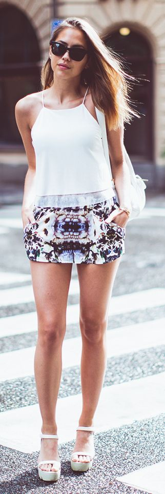 Finders Keepers Multi Floral Relaxed Culotte Shorts by Kenzas
