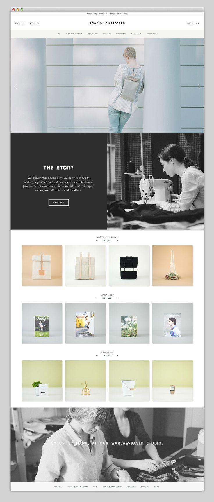 Websites We Love — Thisispaper Shop