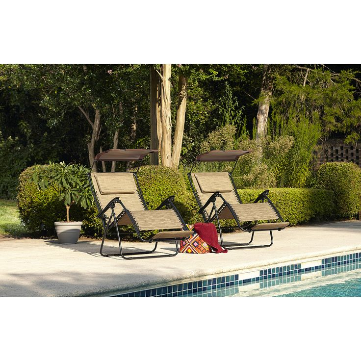 Shop garden treasures patio chaise lounge chair at lowes for Allen roth tenbrook extruded aluminum patio chaise lounge