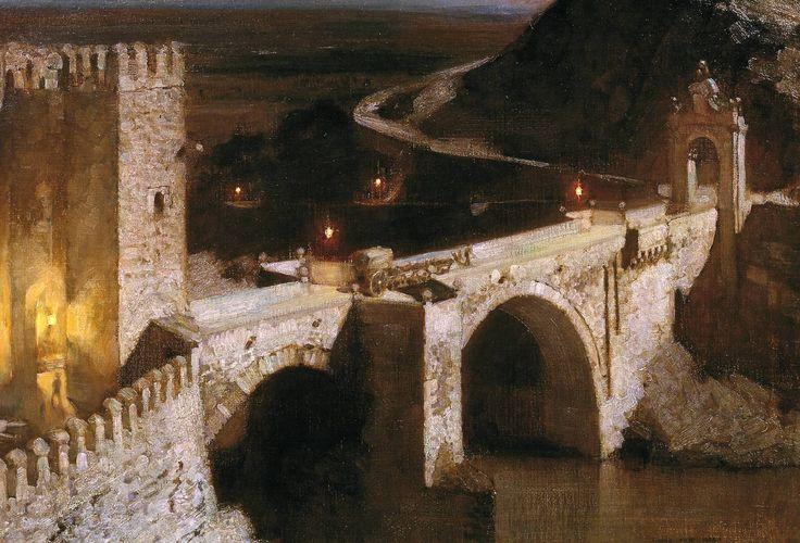 Harold Speed, 'The Alcantara, Toledo, by Moonlight' 1894