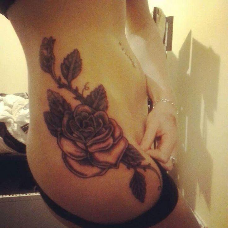 hip tattoo || rose