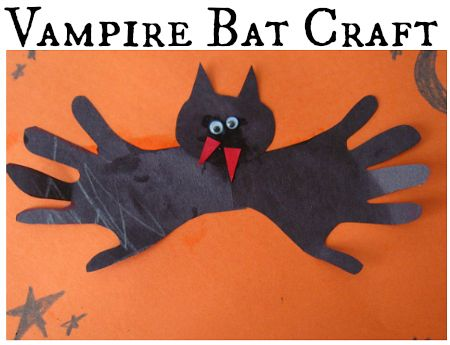 easy bat craft for kids - Halloween Bats Crafts