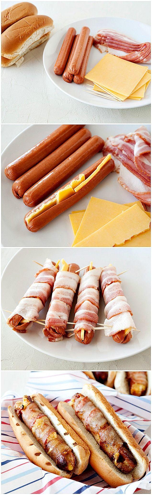saucisse cocktail cheddar et bacon ou jambon cru dans navette