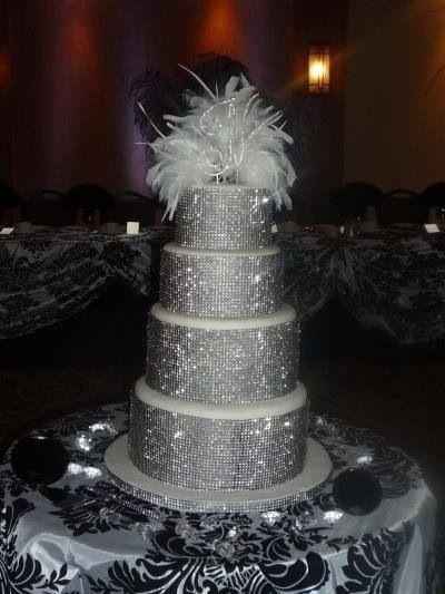 Sparkle cake  Cakes a girl loves  Bling wedding cakes Wedding cakes Cake