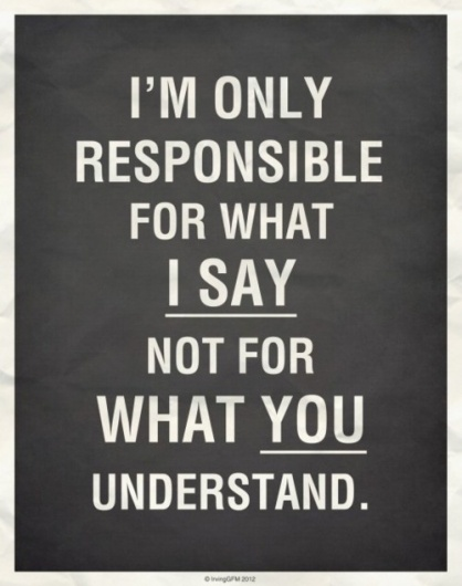 Not for what you understand