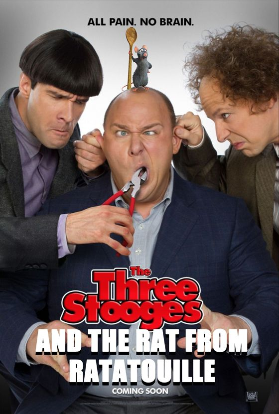 The rat from Ratatouille is going to be in the new Stooges remake http://www.bite.ca/bitedaily/2012/04/new-three-stooges-movie-to-include-fourth-stooge-the-rat-from-ratatouille/