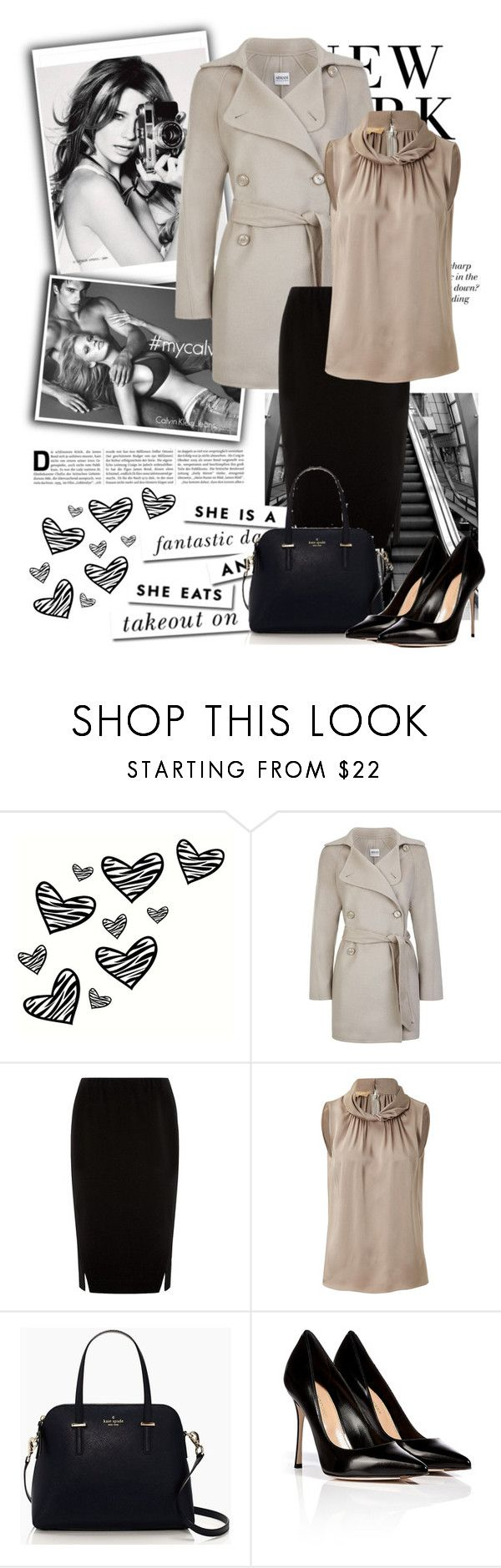 """""""Untitled #222"""" by erivegh ❤ liked on Polyvore featuring Calvin Klein Jeans, Mischa Barton Handbags, H&M, WALL, Armani Collezioni, Donna Karan, Michael Kors, Kate Spade and Sergio Rossi"""