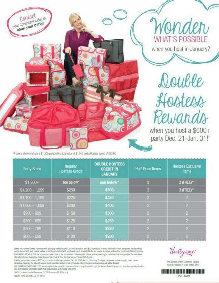 Double hostess rewards thirty one pinterest shops for Thirtyone hostess rewards