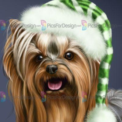 Рождественский Эльф (Йорки) - Иллюстрация магазин PicsForDesign.com. PSP трубки, PSD иллюстрации, векторные иллюстрации.