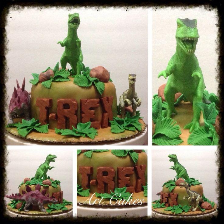 32 Best Dinosaur Cakes Images On Pinterest