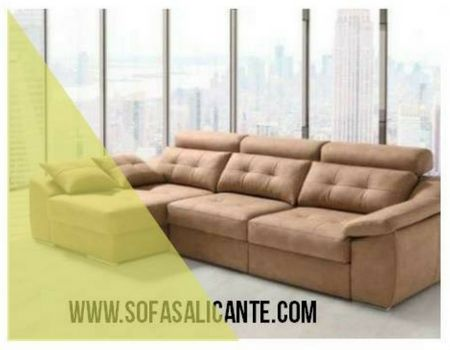 Sofa con chaise longue convertible cama #chaiselongue #sofa  #sofacama