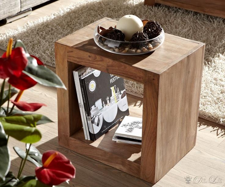 guru regal w rfel akazie stone 45x45 cm raumteiler by wolf m bel massiv arbeiten aufbewahren. Black Bedroom Furniture Sets. Home Design Ideas