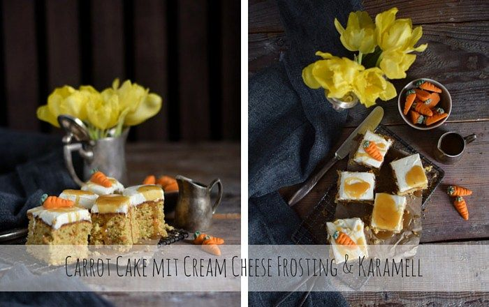 Carrot Cake mit Cream Cheese Frosting & Karamell - Der geht immer