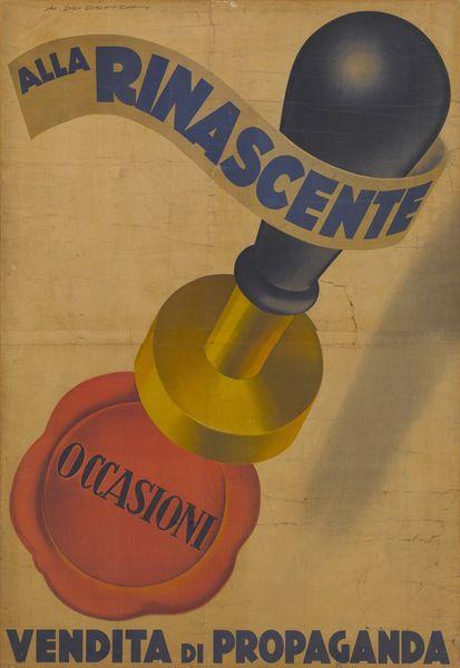 Marcello Dudovich Alla Rinascente. Occasioni. Vendita di propaganda. [Manifesto] Archivio La Rinascente