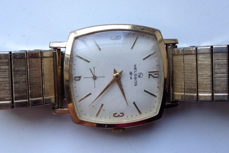 ON AUCTION ON WEDNESDAY 28 SEPTEMBER FROM 8pm........MENS VINTAGE HELBROS 2309 7 JEWELS MANUAL WIND GOLD TONE WORKING WATCH