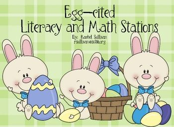 Easter Literacy Centers 1-2 grade