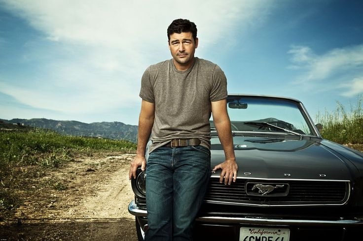 Kyle Chandler and a Mustang, absolute perfection