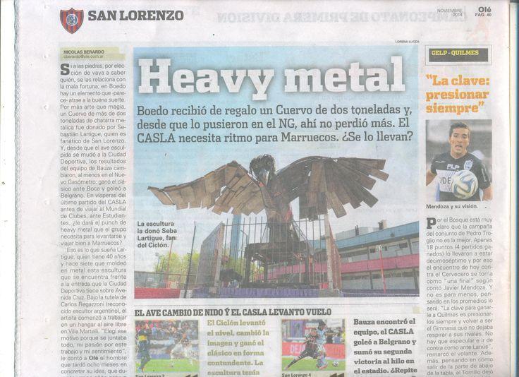 The Riven. Culb Atletico San Lorenzo de Almagro. Buenos Aires. Argentina. http://www.ole.com.ar/san-lorenzo/titulo_0_1256874374.html