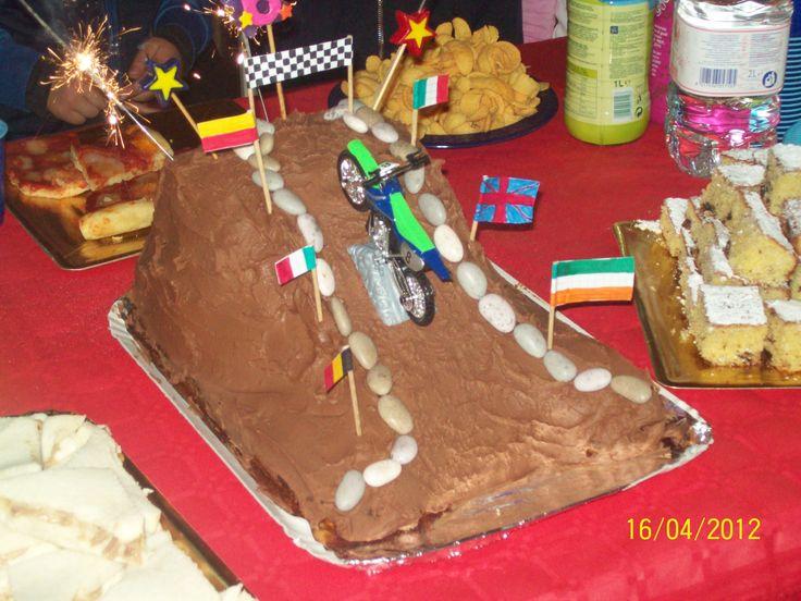 Torta moto cross. Buon compleanno Marco!