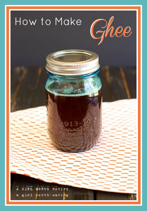How to make Ghee http://www.agirlworthsaving.net/2013/08/how-to-make-ghee.html (stores indefinitly)