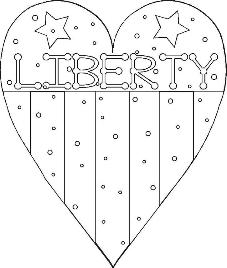 patriotic coloring page printable coloring pages - Color Sheets For Kids
