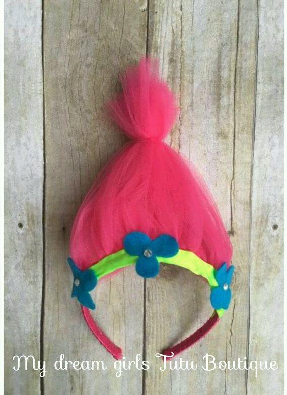 Trolls headband poppy troll headband troll by MyDreamGirlsTutus