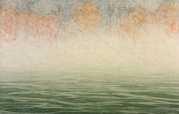 Keiji Shinohara: pp, 2004. Color woodcut 11 × 17 in. Edition 30