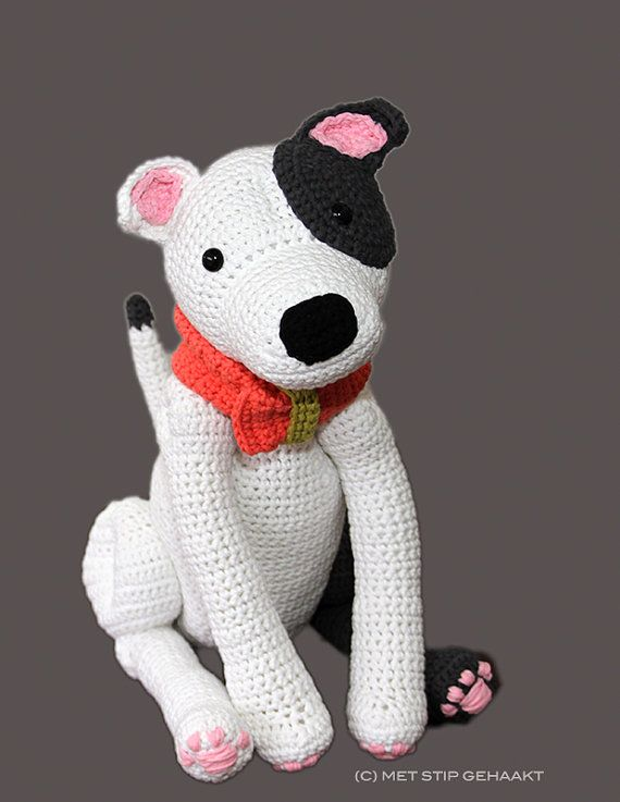 Crochet pattern for Staffordshire Bull Terrier, American Staffordshire Terrier, Pit Bull Terrier on Etsy, $7.48