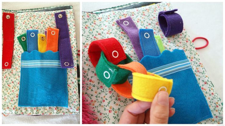 Quiet Book Pages for Babies | also love all the little pockets and how there's a place for ...