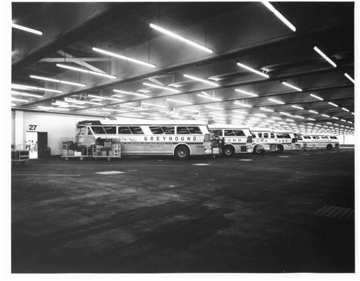 Greyhound Bus terminal 1992 LA California