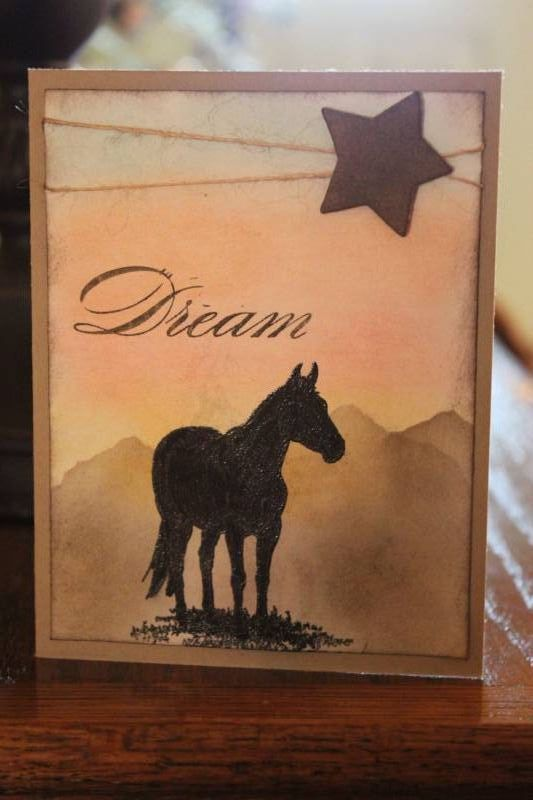 Horse Frontier by n.d.stamper - Cards and Paper Crafts at Splitcoaststampers