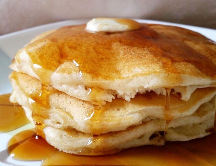 Vanilla Cinnamon Buttermilk Pancakes. The softest, fluffiest, best buttermilk pancakes... from scratch!