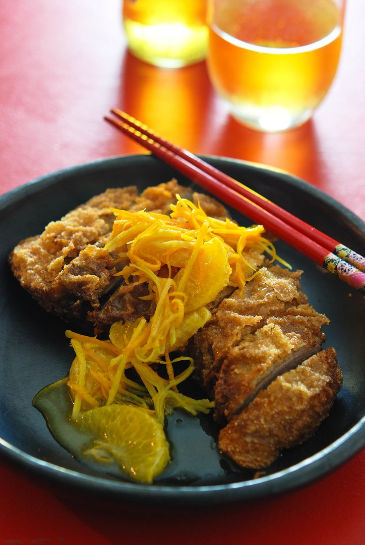Neil Perry's 'Crispy-pressed duck with mandarin sauce'.