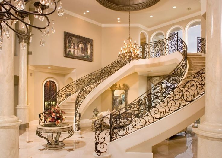 Grand foyer future home ideas pinterest beautiful for House plans with stairs in foyer