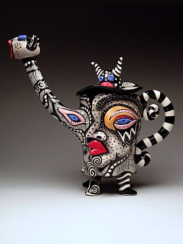 Doreen Baskin Teapot at MudFire Gallery