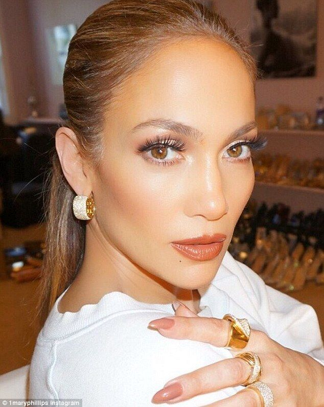 Flawless: A close-up snap shared of JLo put her stunning makeup on full show...