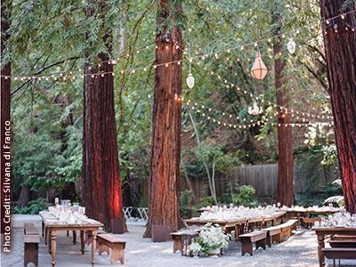 Deer Park Villa Outdoor Marin Wedding Venue Redwoods Fairfax Ca 94930 Bells Venues California