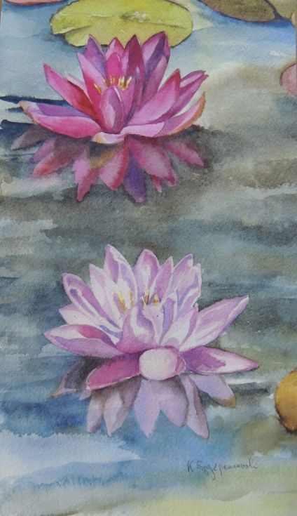 Buy Two shades of pink, Watercolour by Krystyna Szczepanowski on Artfinder. Discover thousands of other original paintings, prints, sculptures and photography from independent artists.