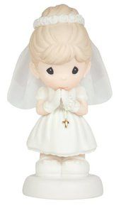"""Precious Moments """"May God's Blessings Be With You On Your First Holy Communion"""" Figurine, Girl. Available at OurPamperedHome.com"""