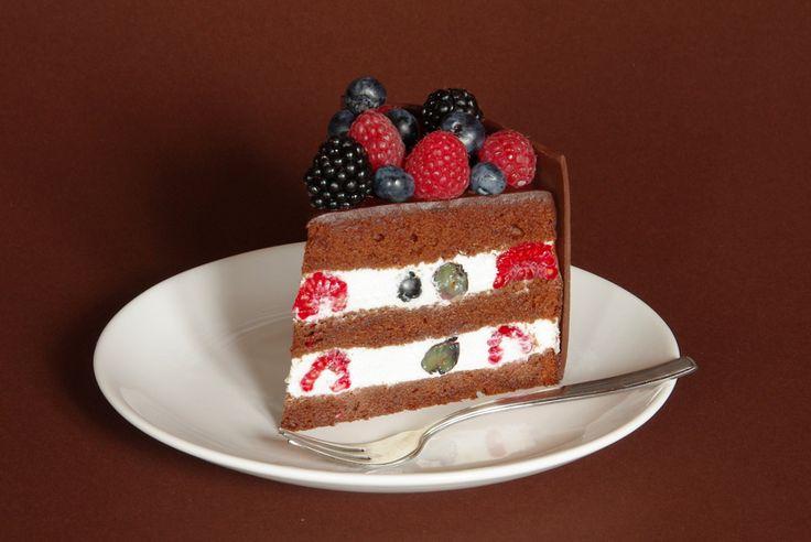 čokoládový dort s ovocem