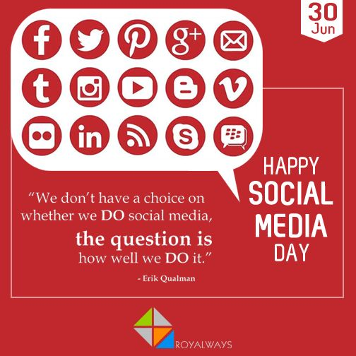 #SocialMediaDay is celebrated to recognizes the digital revolution happening right before our eyes & it is presented by mashable! Happy Social Media Day to all the social geeks out there.