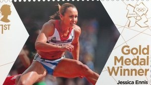 Olympic Gold medallist Jessica Ennis on a new stamp