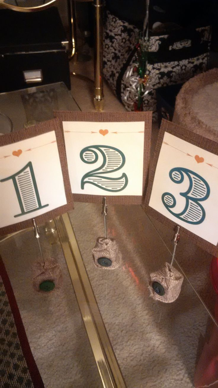 Table number cards word #Wedding dinner tables #burlap #buttons #diy