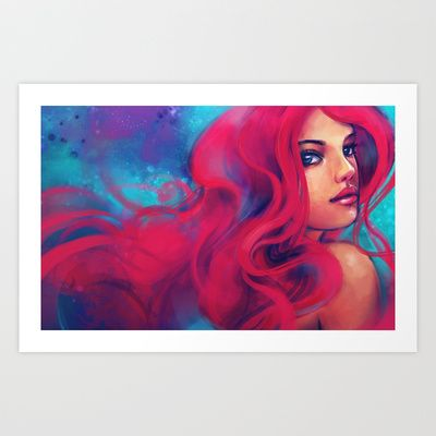 Daughter of Triton Art Print by Alice X. Zhang