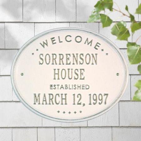 Welcome Established Plaque - House