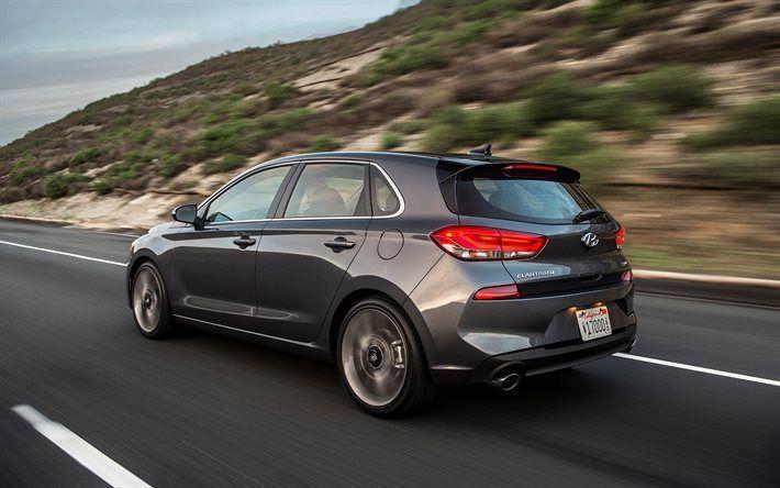 Hyundai Elantra GT, 2018, Hatchback, i30 2018, new Elantra GT, road, speed, rear view