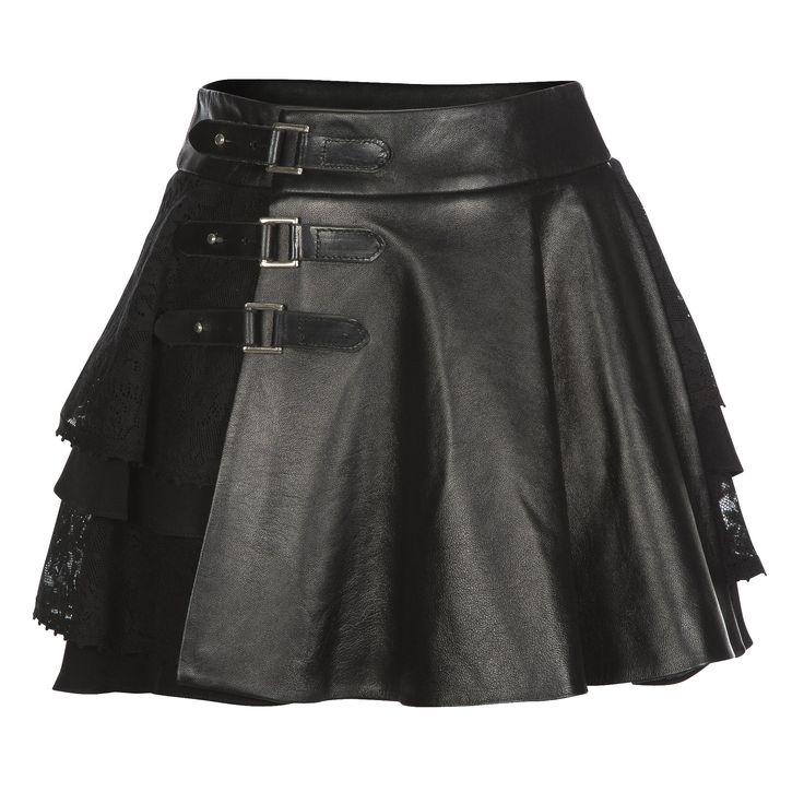 Cherie Lace & Leather Kilt Skirt | Mairi McDonald | Wolf & Badger