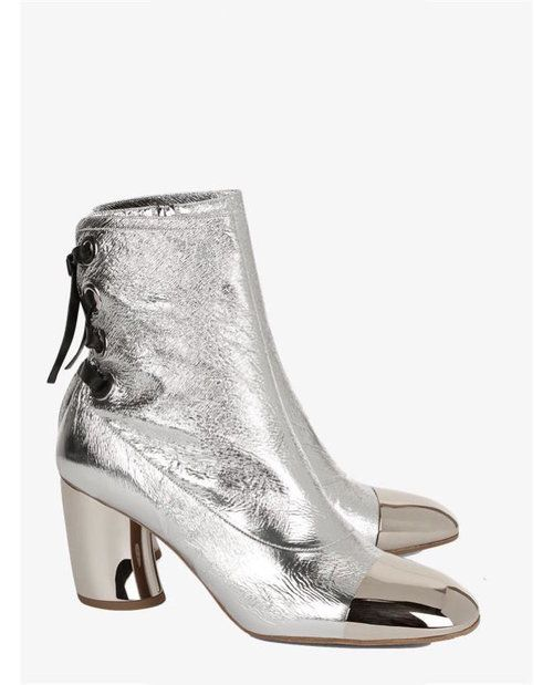 Proenza Schouler Silver Sorentino Ankle Boots $1,190